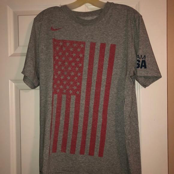 oferta Gato de salto No quiero  Nike Shirts | Nike Usa Flag Shirt | Poshmark